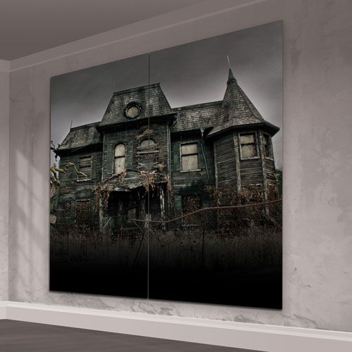 IT Chapter 2 Neibolt House Scene Setter Add-On Wall Decorating Kit Halloween Backdrop