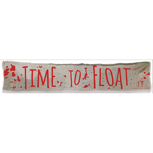 IT Chapter 2 'Time to Float' Halloween Cloth Banner 182cm