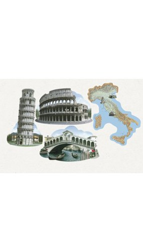 Italian Decorative Cutouts - 16 Inches / 41cm - Pack of 4 Product Image
