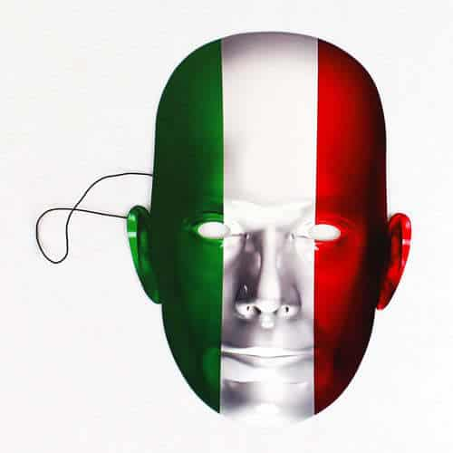 Italy Flag Face Mask Product Image