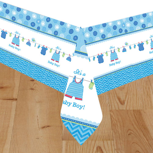 It's a Baby Boy Paper Tablecover 259cm x 137cm