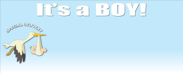 Baby Shower Small Personalised Banner- 4ft x 2ft
