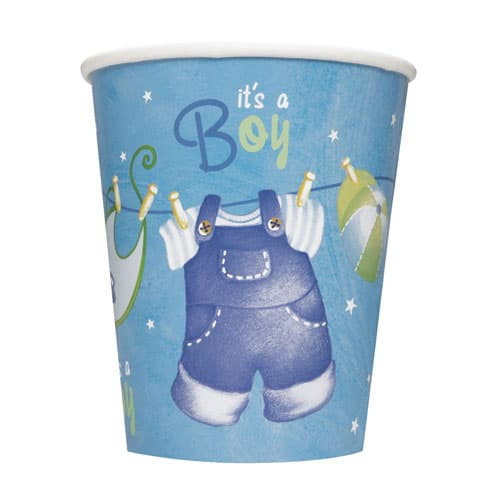 Its A Boy Clothesline Paper Cup 270ml Product Image