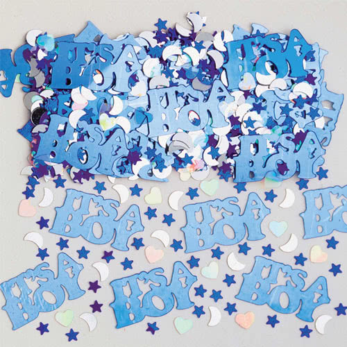 It's A Boy Metallic Table Confetti 14 Grams Product Image
