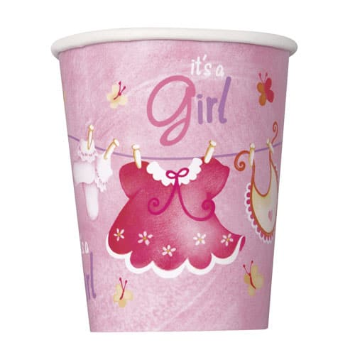 Its A Girl Clothesline Paper Cup 270ml