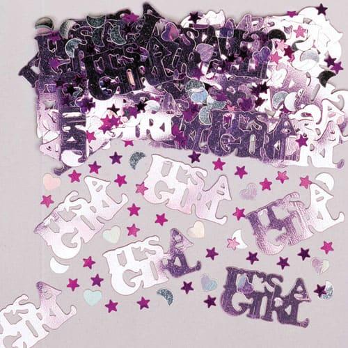 Its A Girl Metallic Confetti 14 Grams