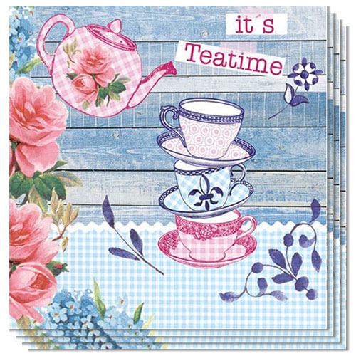 It's Teatime Luncheon Napkins 3 Ply - 33cm - Pack of 20 Product Image