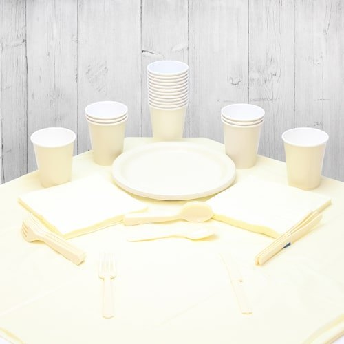 Ivory 18 Person Party Pack