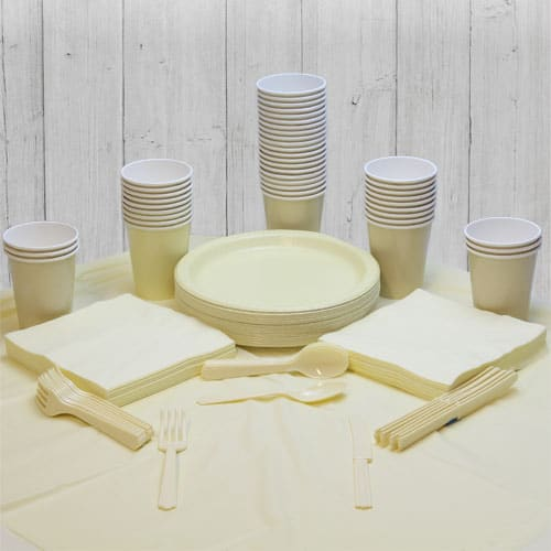 Ivory 54 Person Party Pack