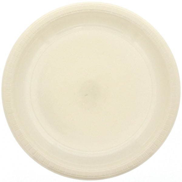 Ivory Plastic Plate - 9 Inches / 23cm