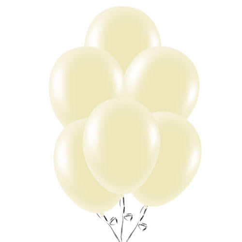 Ivory Latex Balloons 23cm / 9Inch - Pack of 30