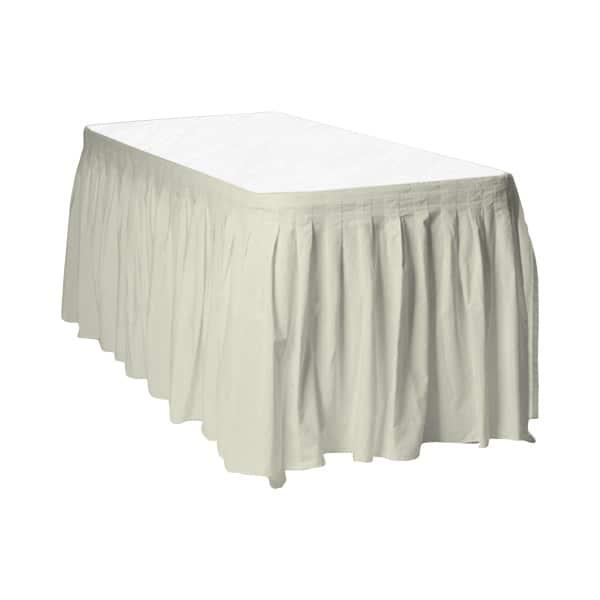 Ivory Plastic Table Skirt - 426cm x 74cm