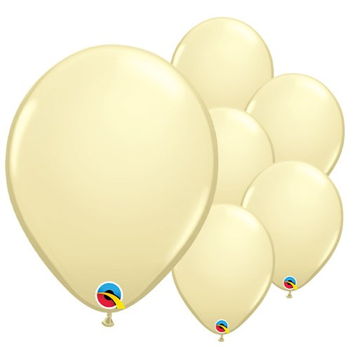Ivory Silk Latex Qualatex Balloons 28cm / 11 in - Pack of 100 Product Image