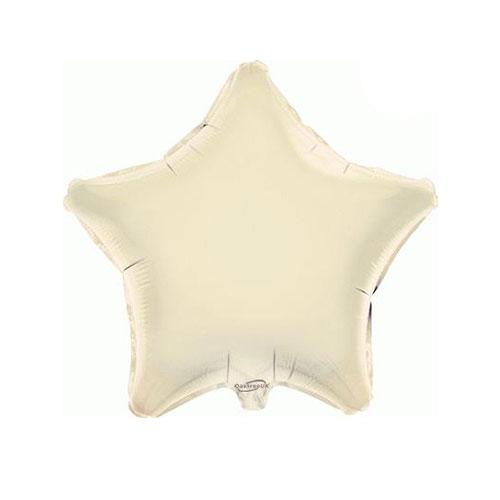 Ivory Star Foil Helium Balloon 46cm / 18 in
