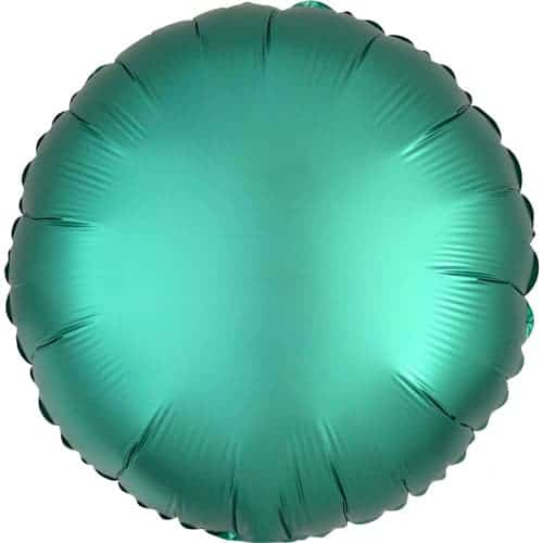 Jade Green Satin Luxe Round Foil Helium Balloon 43cm / 17Inch Product Image