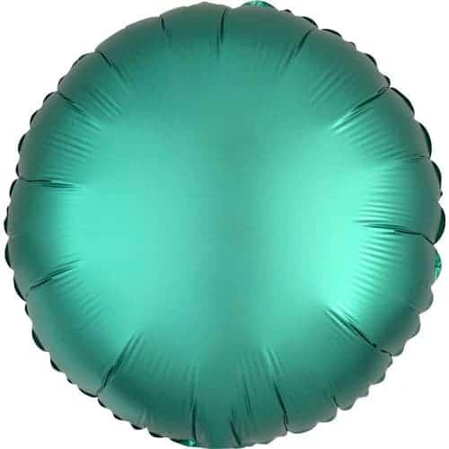 Jade Green Satin Luxe Round Foil Helium Balloon 43cm / 17Inch
