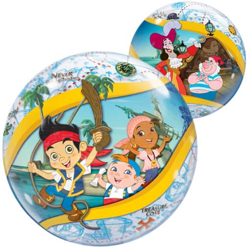 Jake And The Never Land Pirates Bubble Helium Qualatex Balloon 56cm / 22 in