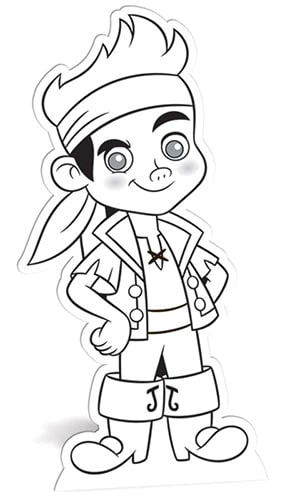 Jake and the Neverland Pirates Colour-In Cardboard Cutout - 96cm Product Image