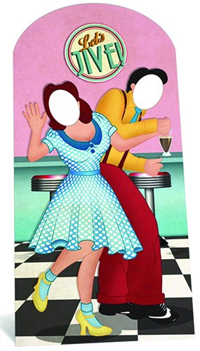 1950′s Jazz Dancers Stand In Cardboard Cutout - 192cm Product Image