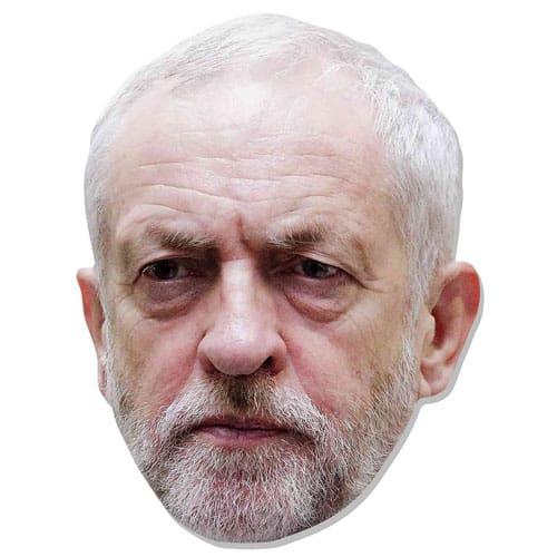 Jeremy Corbyn Cardboard Face Mask