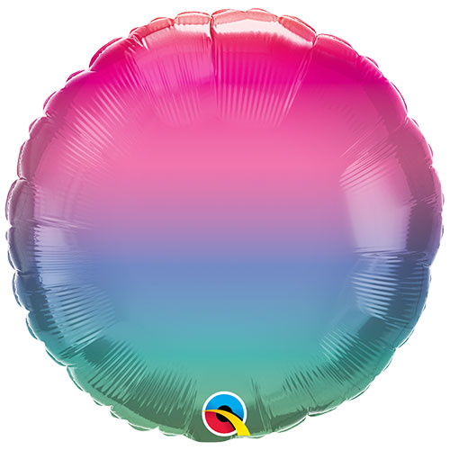 Jewel Ombre Round Foil Helium Qualatex Balloon 46cm / 18 in