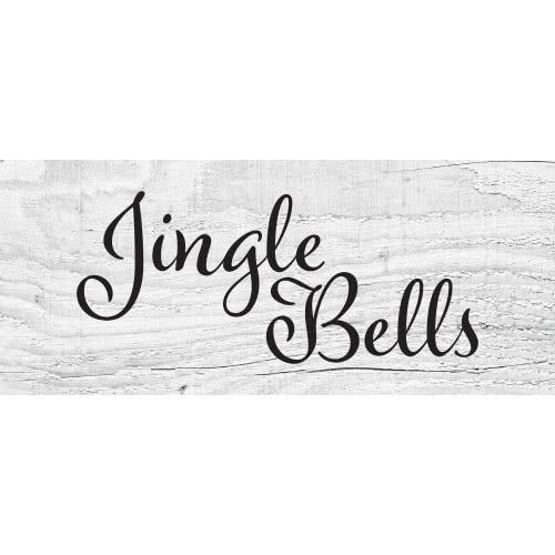 Jingle Bells Wooden Effect Christmas PVC Party Sign Decoration 60cm x 25cm Product Image