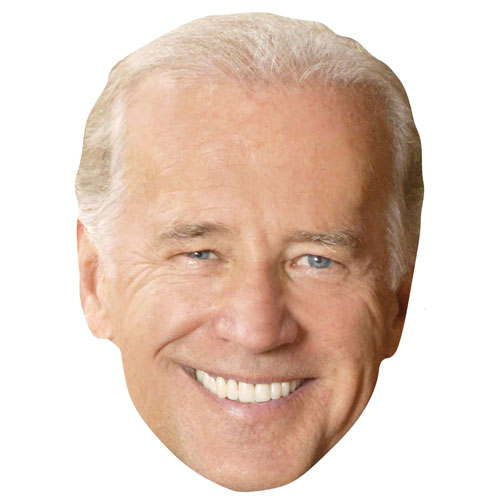 Joe Biden Cardboard Face Mask