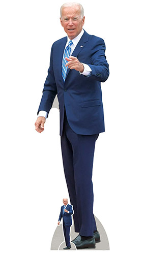 Joe Biden President Pointing Lifesize Cardboard Cutout 185cm