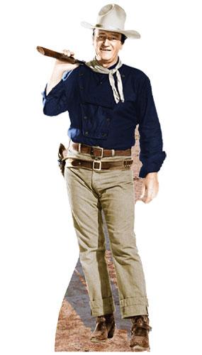 John Wayne Rifle on Shoulder Lifesize Cardboard Cutout 193cm