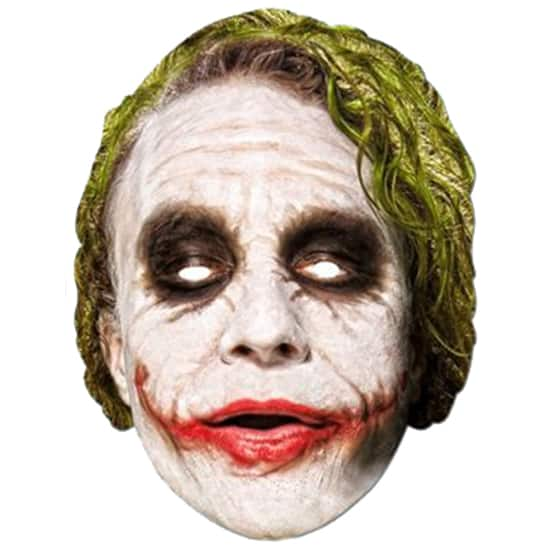 Batman Joker Celebrity Cardboard Face Mask Product Image