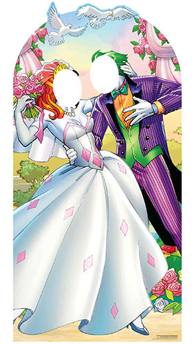 Joker And Harley Quinn Wedding Stand In Lifesize Cardboard Cutout 194cm Product Image
