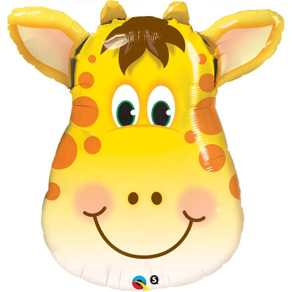 Jolly Giraffe Face Jungle Animals Helium Foil Giant Qualatex Balloon 81cm / 32 in Product Image