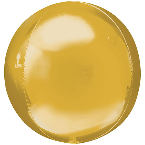 Jumbo Gold Orbz Foil Balloon 53cm / 21 in