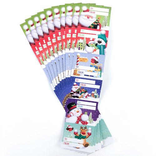 Jumbo Novelty Christmas Self Adhesive Gift Labels - Pack of 60 Product Image