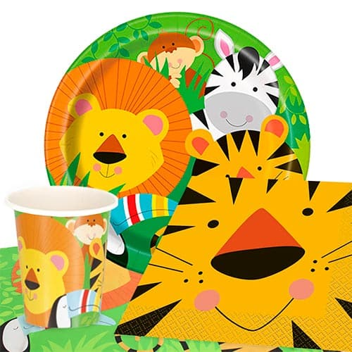 Jungle Animals Theme 8 Person Value Party Pack