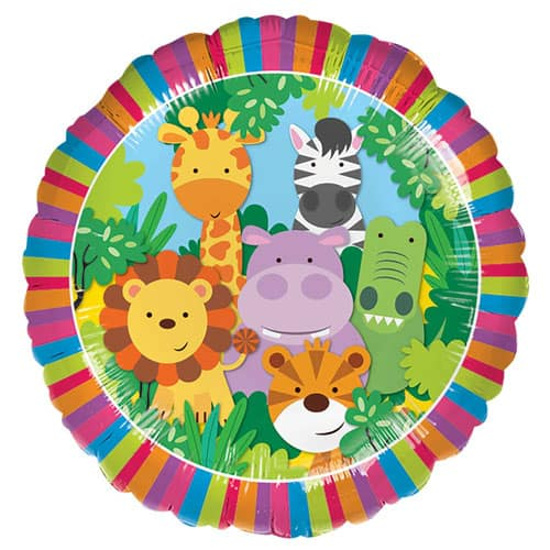Jungle Friends Round Foil Helium Balloon 43cm / 17Inch Product Image