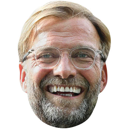 Jurgen Klopp Liverpool Manager Cardboard Face Mask Product Image