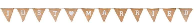 Just Married Natural Hessian Bunting 3.2m Product Image