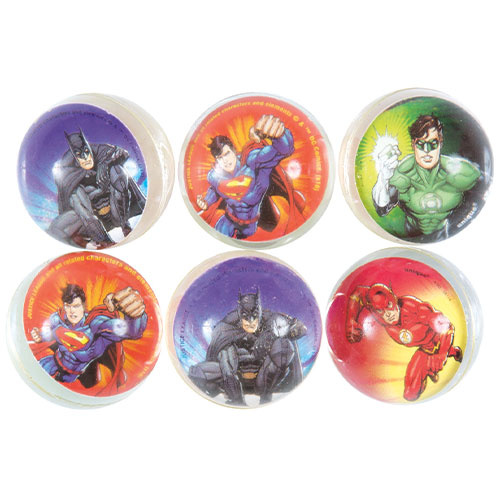 Justice League Assorted Bounce Balls - Pack of 6 Product Image