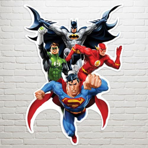 Justice League Heroes Wall Art - 81cm