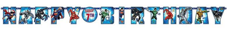Justice League Jumbo Letter Banner - 320cm