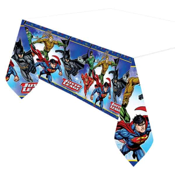 Justice League Plastic Tablecover 243cm x 137cm