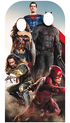 Justice League Adult Live Action Stand In Lifesize Cardboard Cutout 193cm Product Image