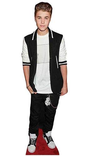 Justin Bieber Black Tracksuit Lifesize Cardboard Cutout - 171cm Product Image