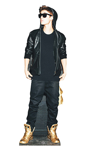 Justin Bieber Gold Shoes Lifesize Cardboard Cutout - 170cm Product Image