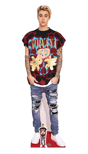 Justin Bieber Ripped Jeans Lifesize Cardboard Cutout 176cm Product Image
