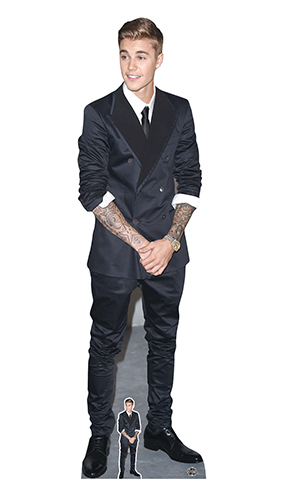 Justin Bieber Smart Suit And Smile Lifesize Cardboard Cutout 177cm Product Image