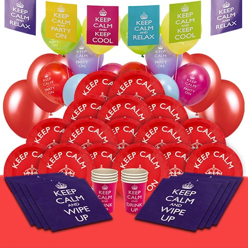 Keep Calm 16 Person Deluxe Party Pack