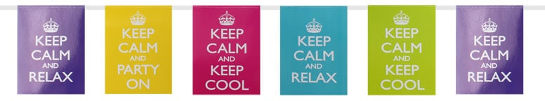 Keep Calm Theme Bunting - 3.5m Product Image