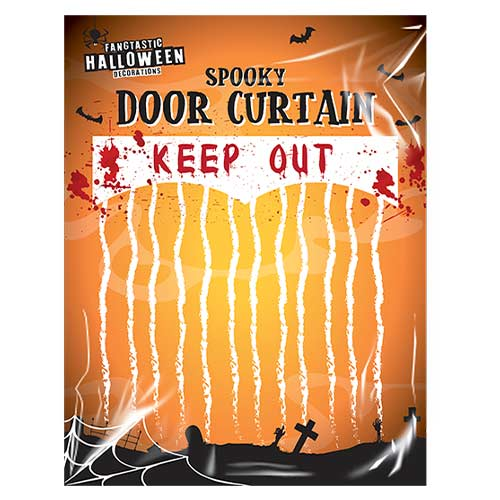 Keep Out Halloween Bloody Curtain 110cm Product Image
